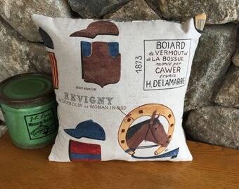 Vintage Hose Racing Decorative Pillow