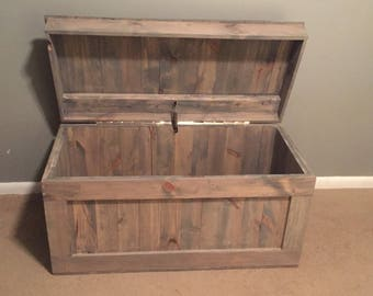 Wood Toy Bench Box Hope Chest Storage Chest