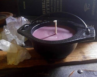 Raspberry Vanilla Cauldron Candle