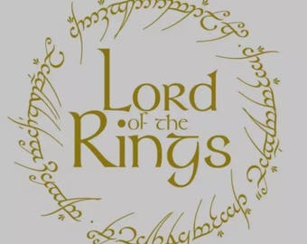 LOTR Ring Of Power Wall Decal