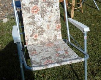 An original late 1960's vintage garden deck chair