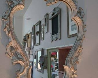 Miroir style Louis XV relooké et patiné à l'ancienne