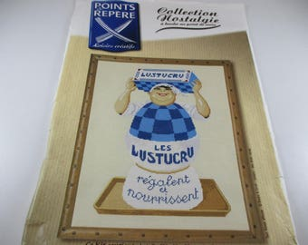Embroidery Kit, Kit cross stitch counted, advertising Collection, the Lustucru, Original