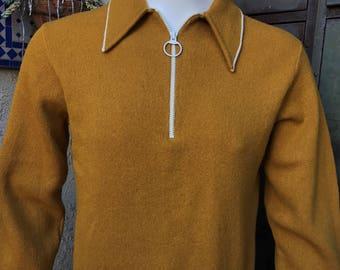 B&B Larry's by Lord Jeff 100% Italian Wool Knit Sweater Shirt