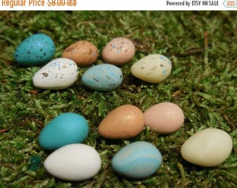 20% OFF STOREWIDE Mini Eggs, Personalized Fairy Garden Miniature Nest with Eggs, Build your own Nest, Fairy Garden Accessory for Terrariums
