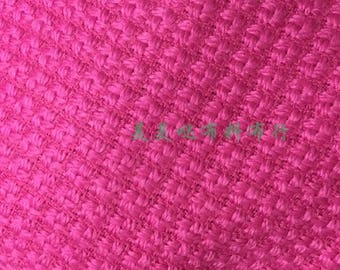 Free ship tweed fabric rose color price for 1 meter 59""