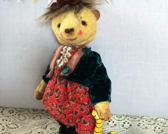 Teddy bear vintage Teddy bear Yellow teddy bear Stuffed bear Stuffed toy  Plushies teddy Vintage toy Teddy clown