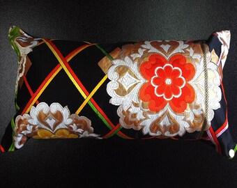 Cushion of Obi (Kimono) Japanese Silk  0000087