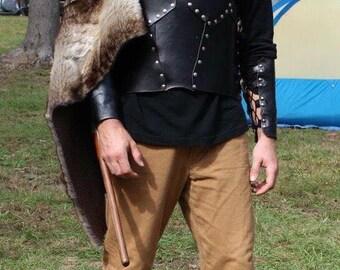 Titan Men's Leather Bracers - part of The Titan Armor Set