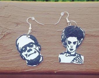 Frankenstein and the Bride Earrings