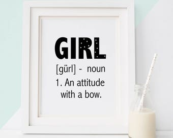 Birth gift baby girl, Nursery art girl, Poster baby, Baby girl wall art, Baby girl nursery, Baby girl decor, Poster quote, Quote baby, Gift