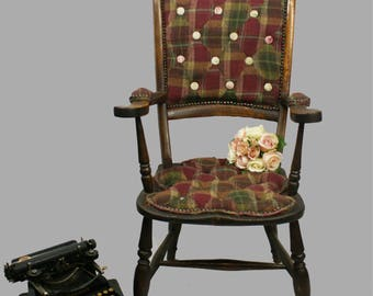 Tweed Rustic Vintage Chair