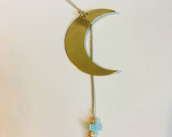 Crescent Moon Necklace (Moonbeams Collection)