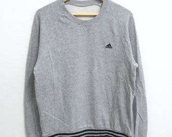 RARE!!! Adidas Equipment Small Logo Embroidery Crew Neck Grey Colour Sweatshirts Hip Hop Swag M Size