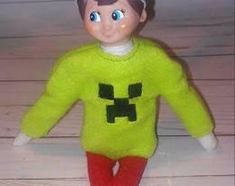 Green Guy Elf Shirt Embroidery Design