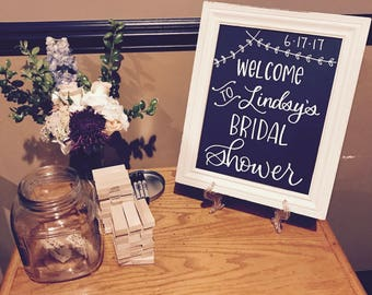 Welcome to the Wedding or Bridal/Baby Shower - Chalkboard Sign