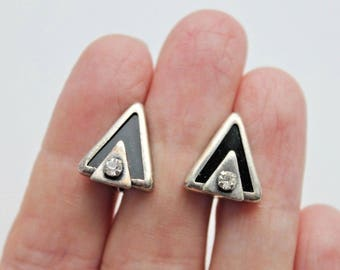 Vintage German Silver 980 Earrings silver plated #503