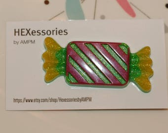 Yummy Candy Pin - Green and Pink #2