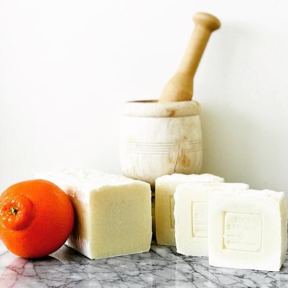 Orange Blossom Olive Oil Soap (Vegan, Castile)