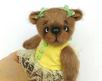ooak Artist teddy bear Emma 4 inches handmade