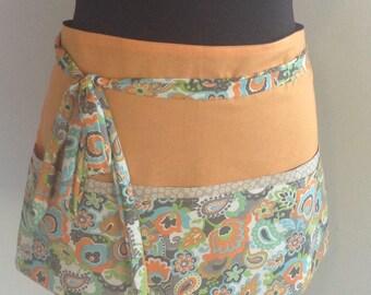 Waitress apron vendor apron teacher apron utility apron - SALE orange apron