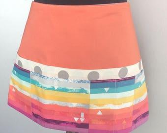 coffee shop apron waitress apron tie apron vendor apron utility apron - 6 pocket multi colored apron