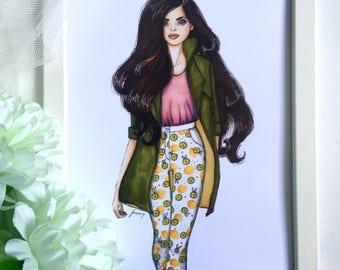 If Life Gives You A Lemon Fashion Illustration Print