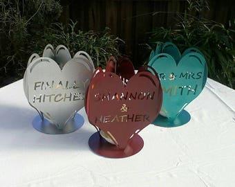 personalised wedding candle holders