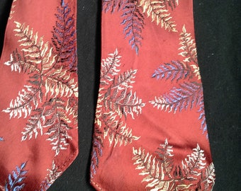 1940s Men's Neck Tie / Man About Town - IMPORTED FABRIC - Styled by Forsyth - Hand Made