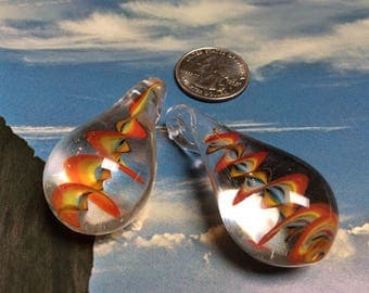 Glass Drop Pendant - 2 Pieces - #930