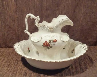 Vintage Arnel's Bowl and Pitcher set, free shipping
