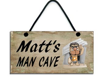 PERSONALISED Man Cave Sign Handmade Wooden Home Sign/Plaque 654