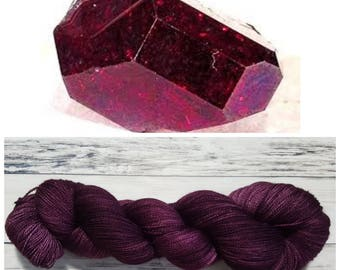 Hand Dyed Yarn, Merino, Silk, Lace Weight Tonal Yarn Perfect for Shawls and Other Lightweight Accessories - Cuprite