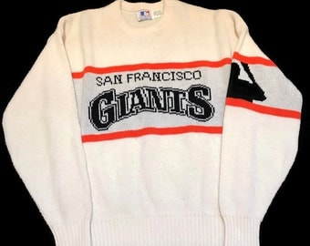 Vintage San Francisco Giants Sweater Pullover MLB Baseball By Cliff Engle Size Large