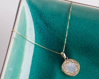 Mother You're My Pearl 9ct Gold Necklace