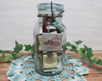 Trade Mark Lightning Canning Jar/Vintage 1900s Putnam Canning Jar/Matchbook and Match Boxes Collection