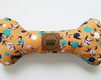 Flying High Collection - Birds Print Rattle Dog Bone Toy