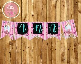 Instant Download, Jojo Siwa Party Banner, Jojo Siwa Birthday Banner, Jojo Siwa Invitations