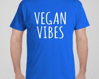 Vegan T shirt - VEGAN VIBES - vegetarian gift