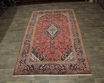 Great Shape Rare Size S Antique Kashan Persian Area Rug Oriental Carpet 6'5X11