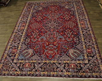 Astounding Unusual S Antique Najafabad Persian Rug Oriental Area Carpet 9'4X13'5