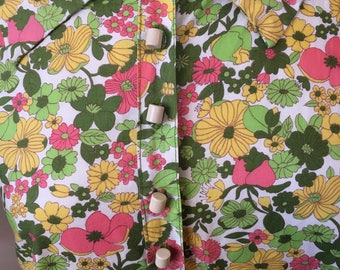 Bright Floral 60's Shift Dress