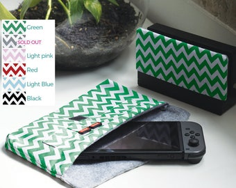 NINTENDO SWITCH CASE * Zigzag 6 colors available * 2 types of lining available * Durable & soft cotton fabric * Custom requests accepted