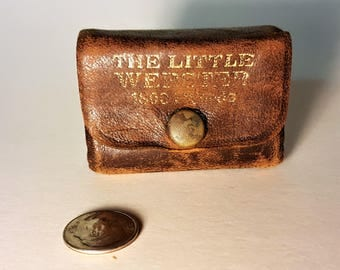 The Little Webster Dictionary Tiny Books Leather Book Miniature Book Liliput Books Leather Wraparound with Working Snap Handy Dictionary