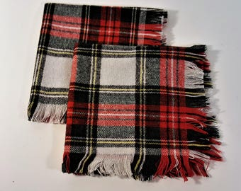Christmas Table Scarves for Holiday Decor Plaid Classic Country Chic Country Decor Furniture Scarves for Holiday Decor Free Shipping
