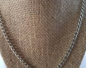 Silver Chain Necklace for Men, Man's Chain Necklace, Men's Chain Necklace, Man's Silver Necklace, Man's Chain, Single Silver Chain Necklace