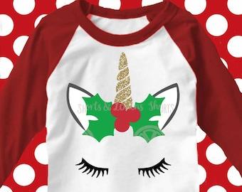 Unicorn svg, unicorn christmas svg, unicorn with eyelashes, christmas svg, SVG, DXF, girls christmas, girls svg, digital download, eps, jpeg