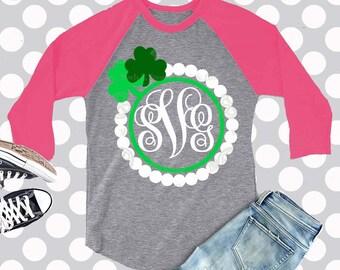 St Patricks Day svg, Monogram SVG, Clover monogram svg, svg, frame svg, svg,  eps, dxf, png, clip art, monogram frame svg, monogram dxf