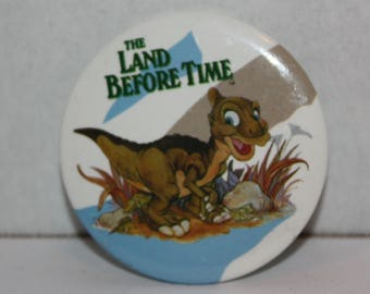 The Land Before Time Movie Ducky 1988 Pinback Button