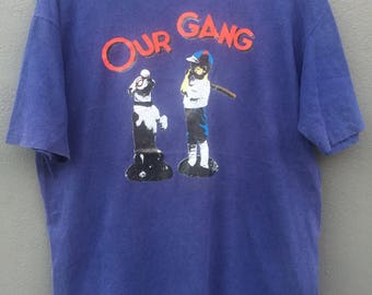 Vintage OUR GANG T shirt XL Size